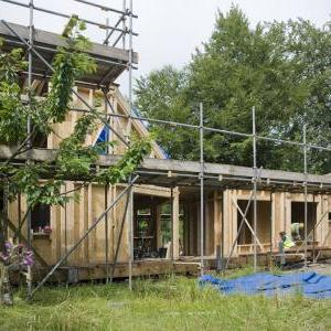 The Caretaker's House under construction, Hooke Park, photo Valerie Bennett