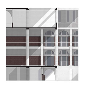 Space and facade elements