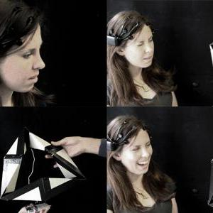 Facial gesture control test with kinetic geometry