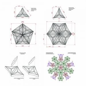 Drawing Process of a Geodesic Dome Variation